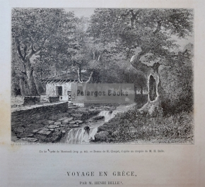 Μαντούδι-Εύβοια / Χαρακτικό του 1876
